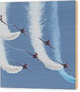 Red Arrows - Formation Magic Wood Print