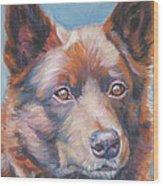 red Australian Kelpie Wood Print