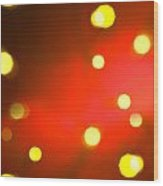 Red Background With Gold Dots Wood Print