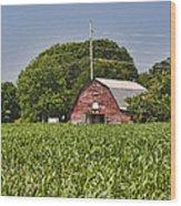 Red Barn - What Charm Wood Print