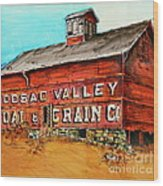 Red Barn Adams Mass Wood Print