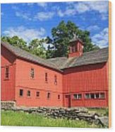 Red Barn At Bryant Homestead Wood Print by John Burk