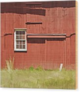 Red Barn Of New Jersey Wood Print