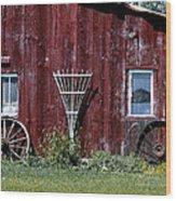 Red Barn Wall Wood Print