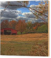 Red Barn1 Wood Print