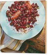 Red Beans And Rice Wood Print