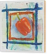 Red Bell Pepper Wood Print