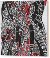 Red Black 2 Wood Print