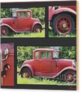 Red Car Wood Print by Lorraine Louwerse