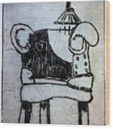 Red Chair Of Reading Edition Of 12 Wood Print