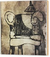 Red Chair Of Reading Edition Of 6 Wood Print