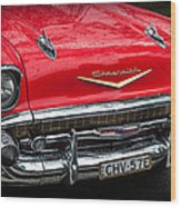 Red Chevvy Wood Print