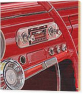 Red Chevy II Wood Print