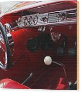 Red Chevy Impala Wood Print