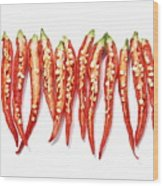 Red Chili Peppers Wood Print