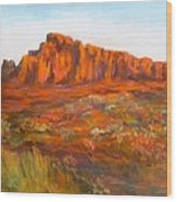 Red Cliffs Wood Print by Jack Skinner