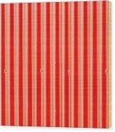 Red Corrugated Metal Wood Print by Tom Gowanlock