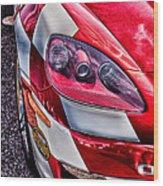 Red Corvette Wood Print