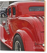Red Coupe Wood Print