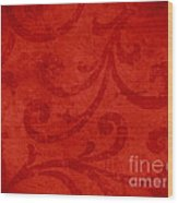 Red Crispy Oriental Style Decor For Fine Design. Wood Print by Marta Mirecka