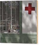 Red Cross. Belgrade. Serbia Wood Print
