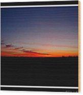 Red Dawn Wood Print