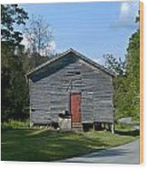 Red Door Of The One Room School House Wood Print