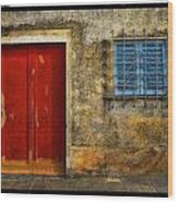 Red Doors Wood Print by Mauro Celotti