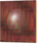 Red Fantasy Wood Print