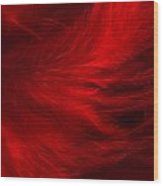 Red Feathers - 1 Wood Print