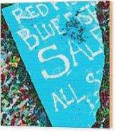 Red Fish Blue Fish Sale Wood Print