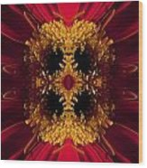 Red Flower Art Wood Print
