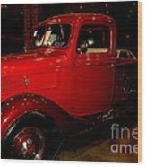 Red Ford Truck Wood Print
