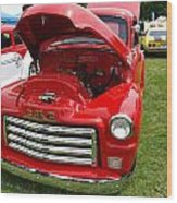 Red Gmc Wood Print