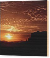 Red Hot Sunrise  Wood Print