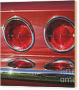 Red Hot Vette Wood Print