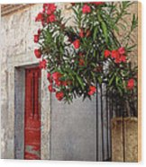 Red In Provence Wood Print
