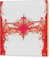 Red Ink Abstract Wood Print by Richard Thomas