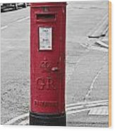 Red King George V Postbox Wood Print