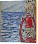 Red Lantern Wood Print