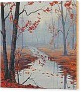 Red Leaves Wood Print by Graham Gercken
