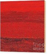 Red Ll Wood Print