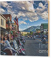 Red  Lodge Motorcycle Rally Wood Print
