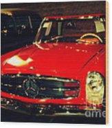 Red Mercedes Sl Wood Print