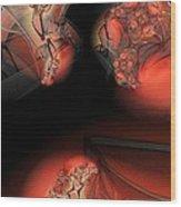 Red Mesh Meeting Wood Print