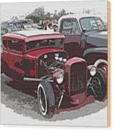 Red Model A Coupe Wood Print