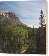 Red Mountain Blue Sky Wood Print