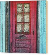 Red Office Wood Print