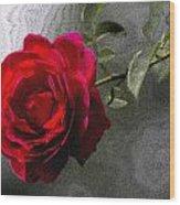 Red Paris Rose Wood Print