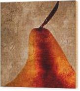 Red Pear I Wood Print